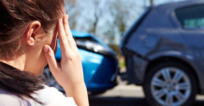 Teen with a car accident